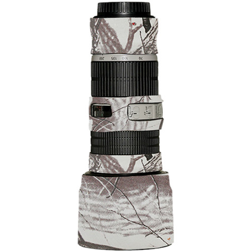 LensCoat Lens Cover for the Canon 70-200mm f/4 IS Lens (Realtree AP Snow)