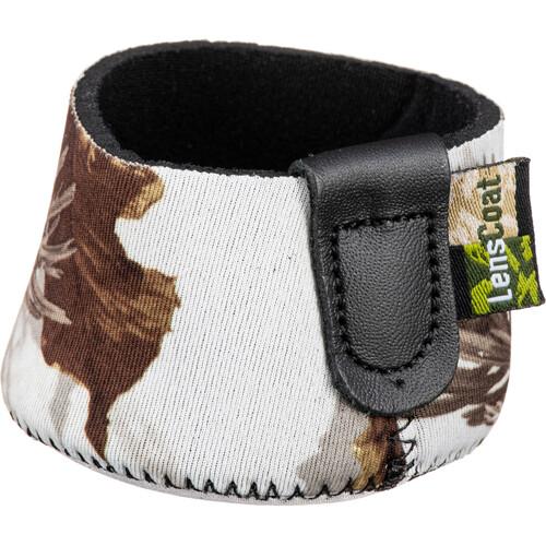 LensCoat Hoodie Lens Hood Cover (Large, Realtree Snow)