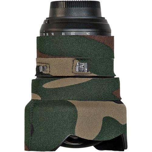 LensCoat Lens Cover for the Nikon 14-24mm f/2.8 Zoom AF Lens (Forest Green Camo)