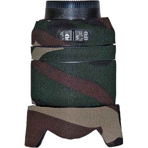 LensCoat Lens Cover for the Nikon 18-105mm f/3.5-5.6G Lens (Forest Green Camo)