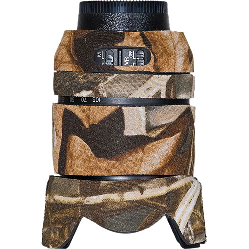 LensCoat Lens Cover for the Nikon 18-105mm f/3.5-5.6G Lens (Realtree Max4 HD)
