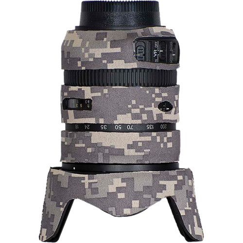 LensCoat Lens Cover for the Nikon 18-200mm f/3.5-5.6 G VRII Lens (Digital Camo)