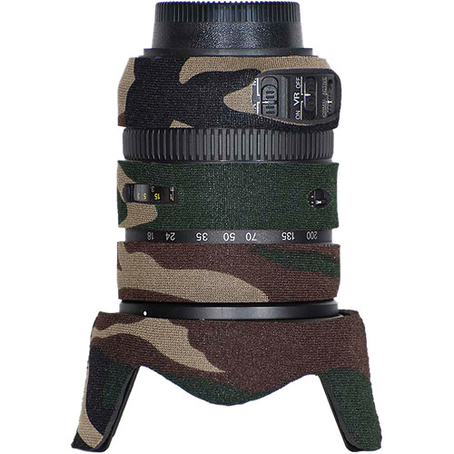 LensCoat Lens Cover for the Nikon 18-200mm f/3.5-5.6 G VRII Lens (Forest Green Camo)