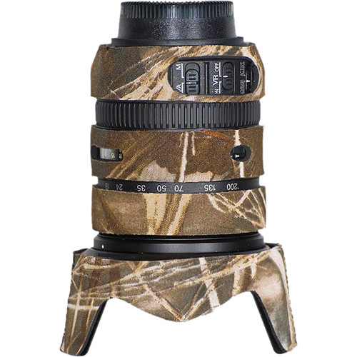 LensCoat Lens Cover for Nikon 18-200mm f/3.5-5.6 G VRII Lens (Realtree Max4 HD)