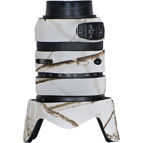 LensCoat Lens Cover for Nikon 18-200mm f/3.5-5.6 G VRII Lens (Realtree AP Snow)