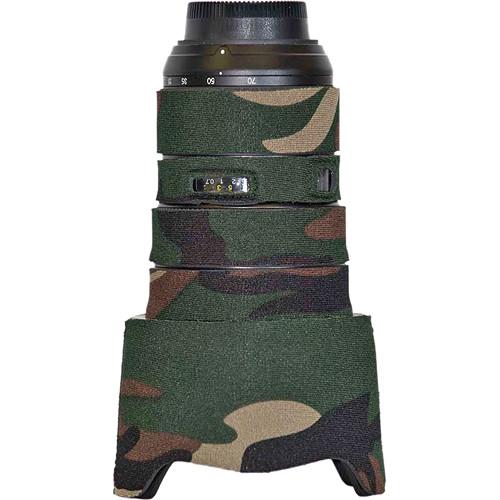 LensCoat Lens Cover for the Nikon 24-70mm f/2.8 Zoom AF Lens (Forest Green Camo)
