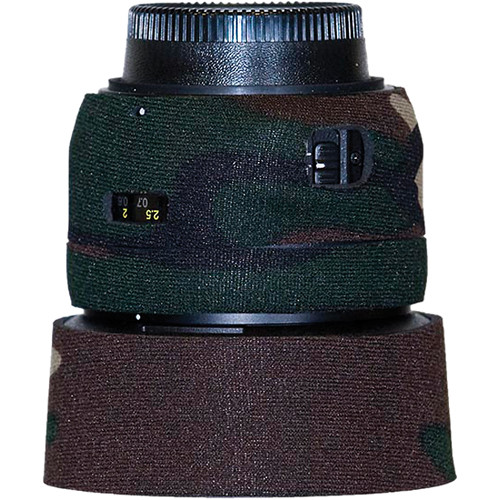 LensCoat Lens Cover for the Nikon 50mm f/1.4G AF Lens (Forest Green Camo)