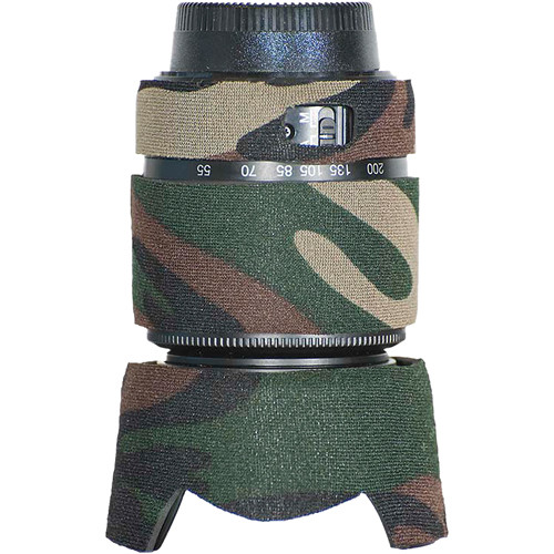 LensCoat Lens Cover for the Nikon 55-200mm f/4.0-5.6G DX Lens (Forest Green Camo)