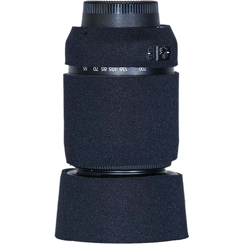 LensCoat Lens Cover for Nikon 55-200 f/4-5.6G ED AF-S VR DX Lens (Black)