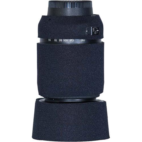 LensCoat Lens Cover For the Nikon 55-200 f/4-5.6G ED AF-S VR DX Lens (Black)