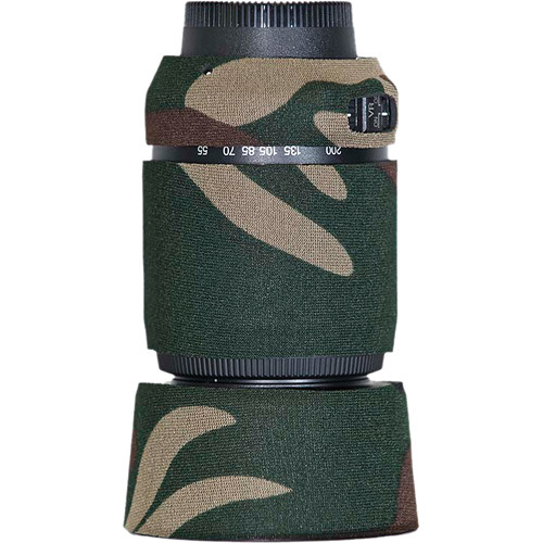 LensCoat Lens Cover For the Nikon 55-200 f/4-5.6G ED AF-S VR DX Lens (Forest Green Camo)