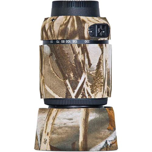 LensCoat Lens Cover For the Nikon 55-200 f/4-5.6G ED AF-S VR DX Lens (Realtree Max4 HD)