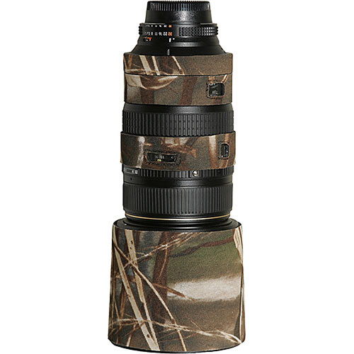 LensCoat Lens Cover For the AF VR Zoom-Nikkor 80-400mm f/4.5-5.6D ED Lens (Realtree Max4 HD)