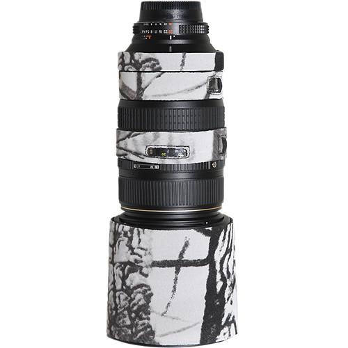 LensCoat Lens Cover For the AF VR Zoom-Nikkor 80-400mm f/4.5-5.6D ED Lens (Realtree AP Snow)