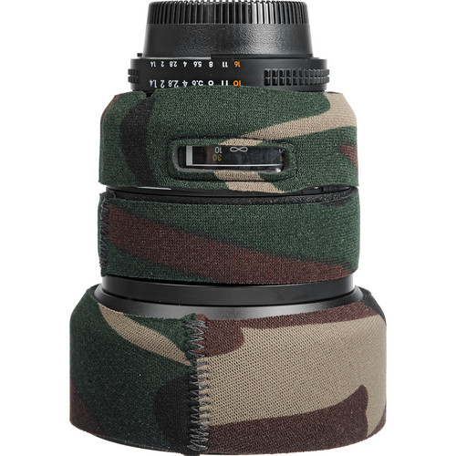 LensCoat Lens Cover for Nikon 85mm f/1.4 D IF Lens (Forest Green Camo)