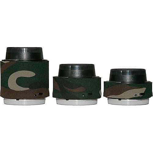 LensCoat Lens Covers for the Nikon Teleconverter Set (Forest Green Camo)