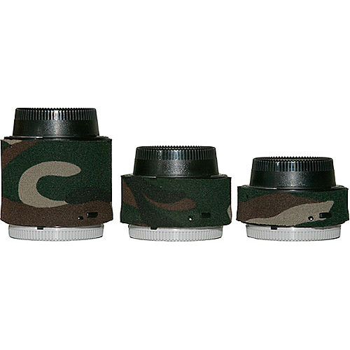 LensCoat Lens Covers for the Nikon Teleconverter Set (Forest Green Camo)