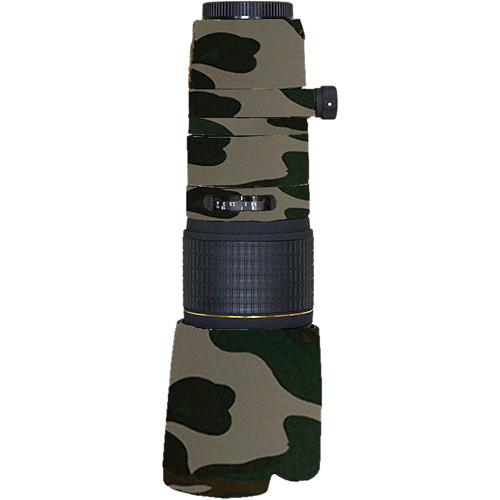LensCoat Lens Cover for Sigma 100-300mm f/4 EX DG APO HSM Lens (Forest Green Camo)