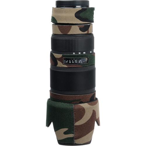 LensCoat Lens Cover for Sigma 70-200mm EX DG Lens (Forest Green Camo)