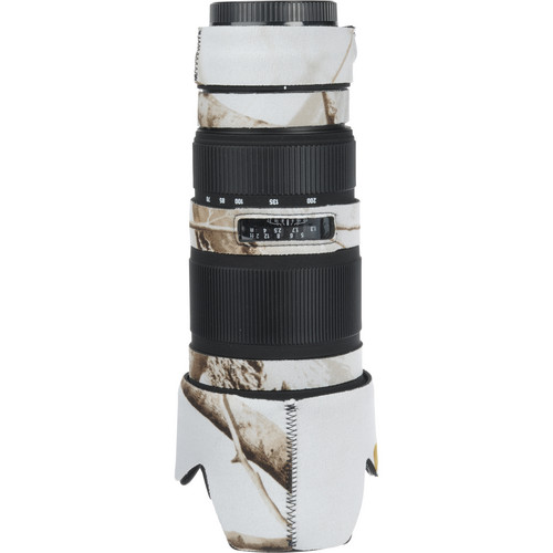 LensCoat Lens Cover for the Sigma 70-200mm EX DG Lens (Realtree AP Snow)