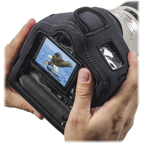 LensCoat BodyGuard Compact Clear Back Case with Grip (Black)