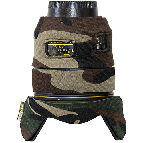 LensCoat Lens Cover for Nikon 24mm f/1.4G ED AF-S Lens (Forest Green Camo)
