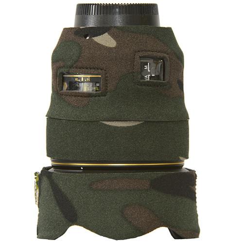 LensCoat Lens Cover for Nikon 35mm f/1.4G ED AF-S Lens (Forest Green Camo)