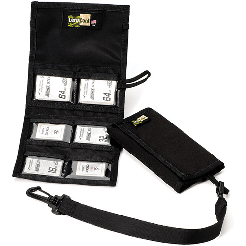LensCoat Memory Card Wallet CF6 (Black)