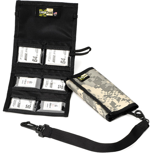 LensCoat Memory Card Wallet CF6 (Digital Camo)