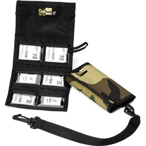 LensCoat Memory Card Wallet CF6 (Forest Green Camo)