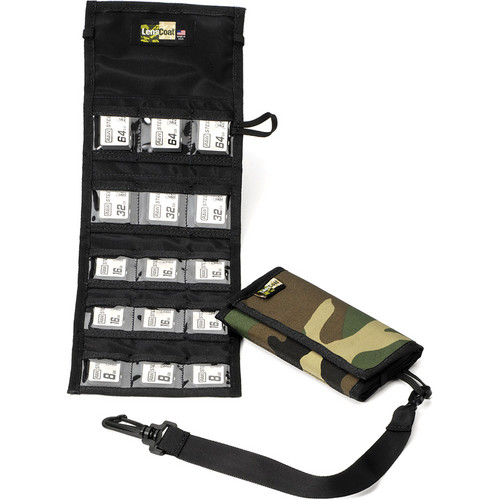 LensCoat Memory Card Wallet SD15 (Forest Green Camo)