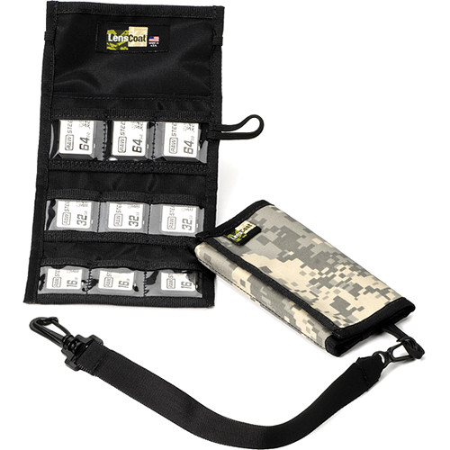 LensCoat Memory Card Wallet SD9 (Digital Camo)