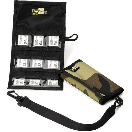 LensCoat Memory Card Wallet SD9 (Forest Green Camo)