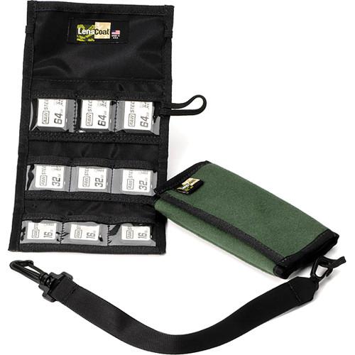 LensCoat Memory Card Wallet SD9 (Green)