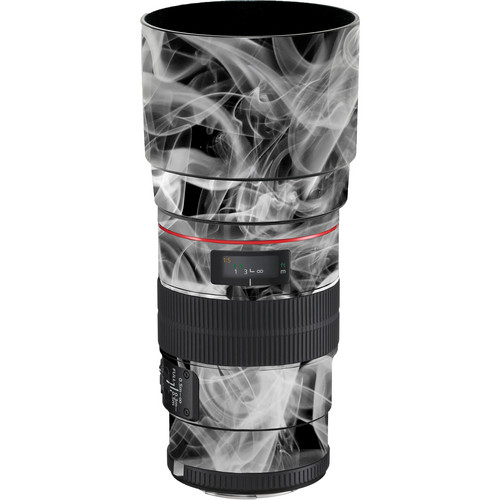 LensSkins Lens Wrap for Canon 100mm f/2.8L IS (Black and White Smoke)