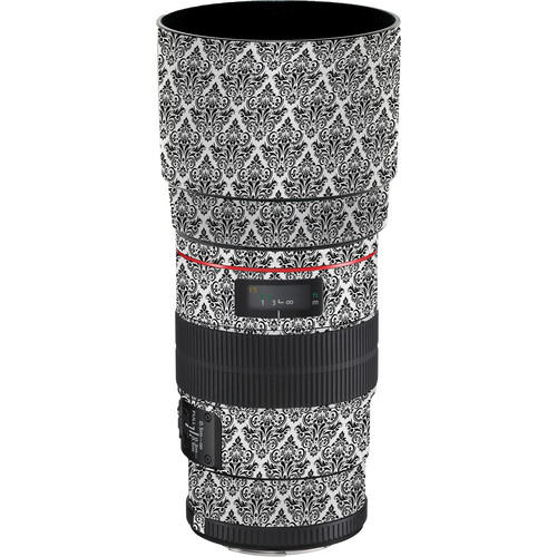 LensSkins Lens Wrap for Canon 100mm f/2.8L IS (BW Damask)