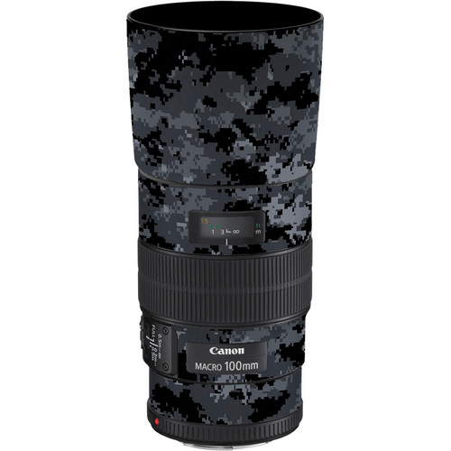 LensSkins Lens Skin for the Canon 100mm f/2.8 Macro IS Lens (Dark Camo)