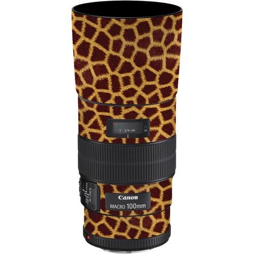 LensSkins Lens Skin for the Canon 100mm f/2.8 Macro IS Lens (Giraffe)