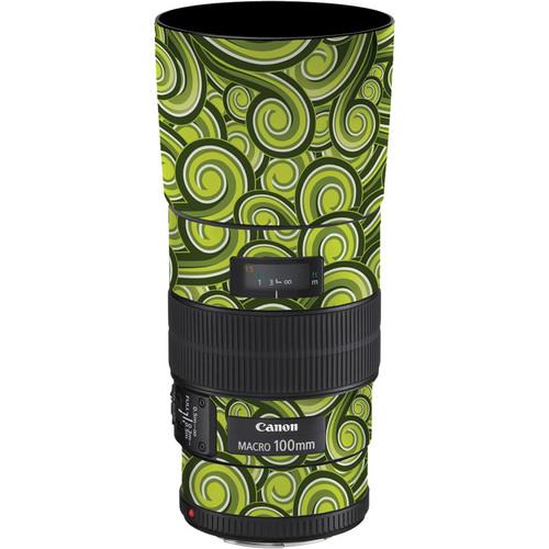LensSkins Lens Skin for the Canon 100mm f/2.8 Macro IS Lens (Green Swirl)