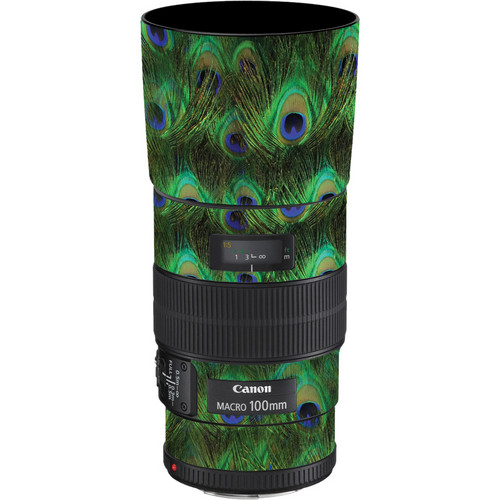 LensSkins Lens Skin for the Canon 100mm f/2.8 Macro IS Lens (Peacock Bliss)