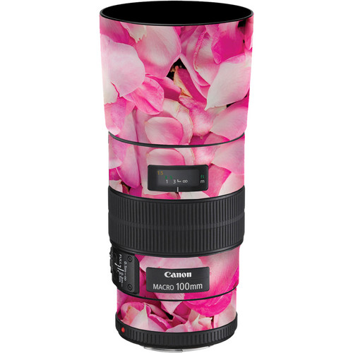 LensSkins Lens Skin for the Canon 100mm f/2.8 Macro IS Lens (Pink Petals)