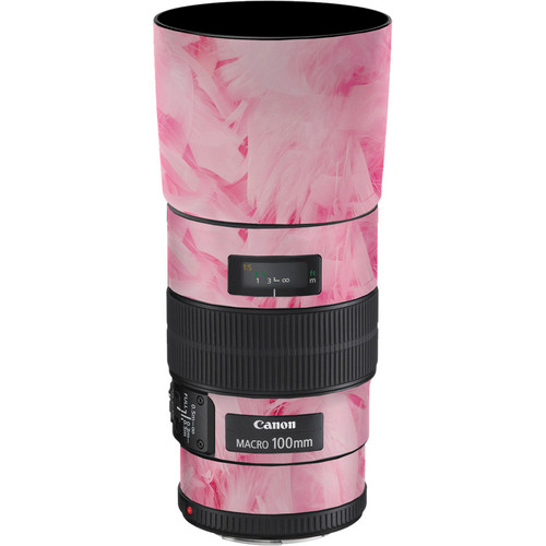 LensSkins Lens Skin for the Canon 100mm f/2.8 Macro IS Lens (Tickled Pink)