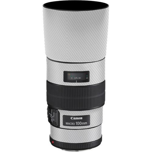 LensSkins Lens Skin for the Canon 100mm f/2.8 Macro IS Lens (White Carbon Fiber)