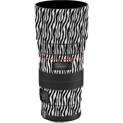 LensSkins Lens Wrap for Canon 100mm f/2.8L IS (Zebra (Wild Child))