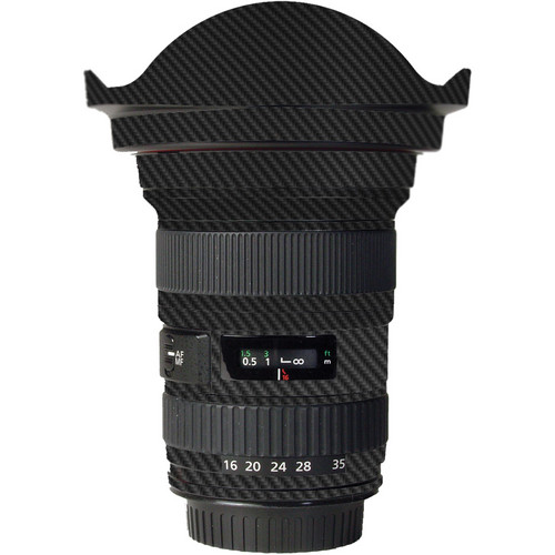LensSkins Lens Skin for the Canon 16-35mm f/2.8L (Mark 1) Lens (Black Carbon Fiber)
