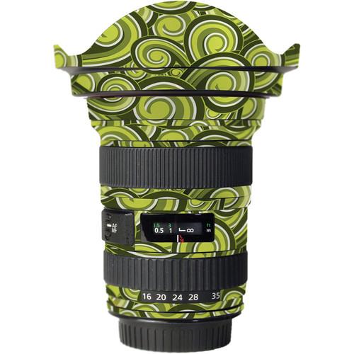 LensSkins Lens Skin for the Canon 16-35mm f/2.8L (Mark 1) Lens (Green Swirl)