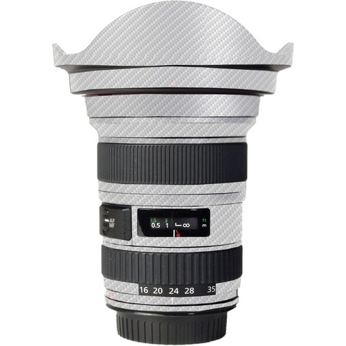 LensSkins Lens Skin for the Canon 16-35mm f/2.8L (Mark 1) Lens (White Carbon Fiber)