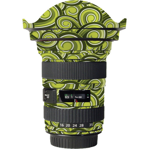 LensSkins Lens Skin for the Canon 16-35mm f/2.8L (Mark 11) Lens (Green Swirl)