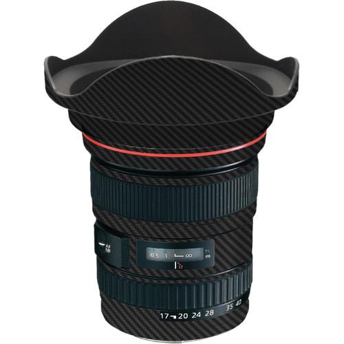 LensSkins Lens Skin for the Canon 17-40 f/4 EF USM Lens (Black Carbon Fiber)