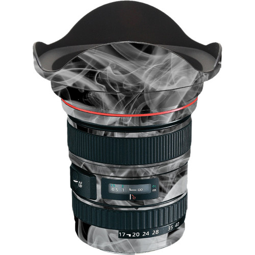 LensSkins Lens Wrap for Canon 17-40mm f/4L (Black and White Smoke)